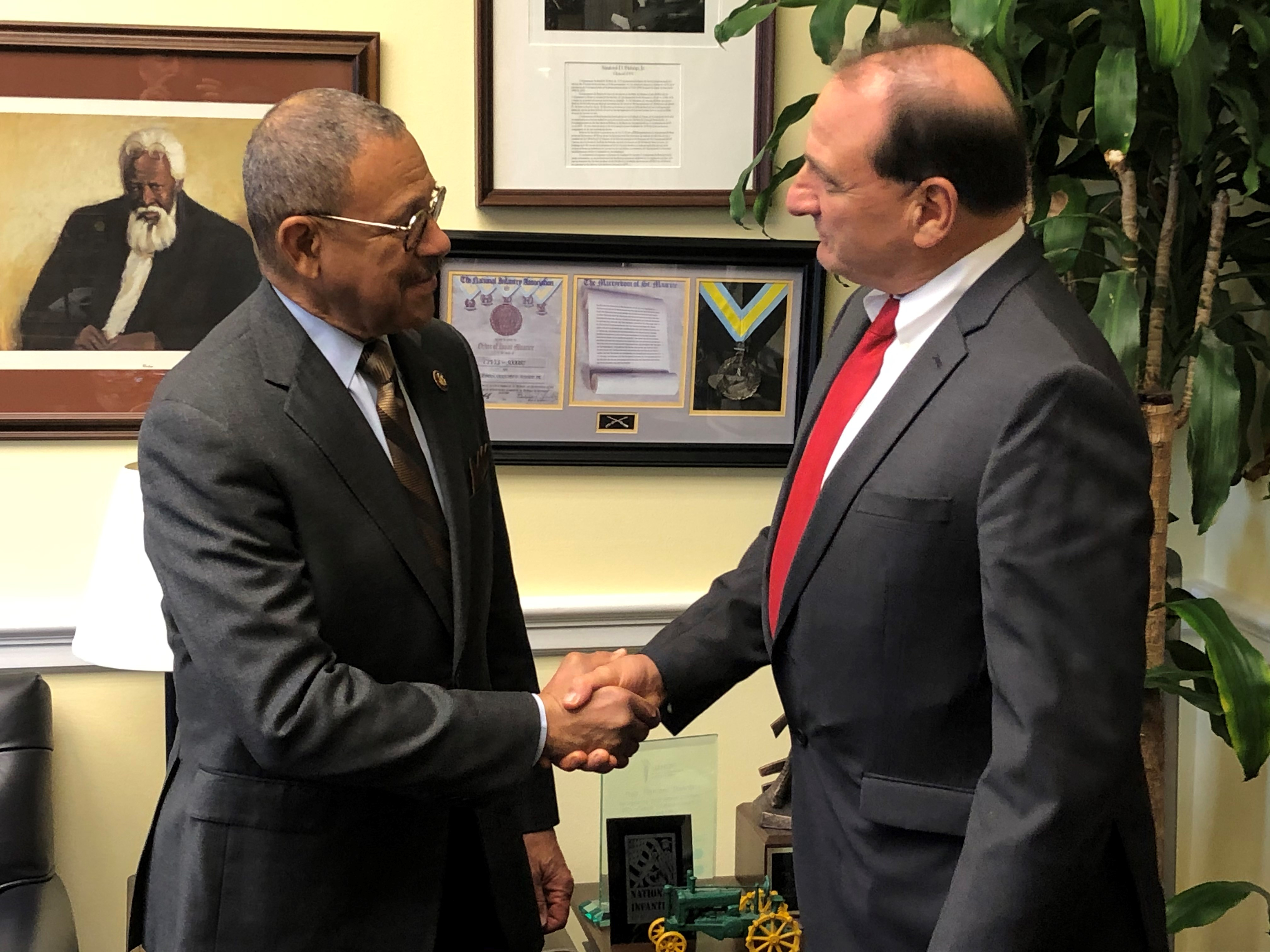 President Arrighi with Rep. Sanford Bishop