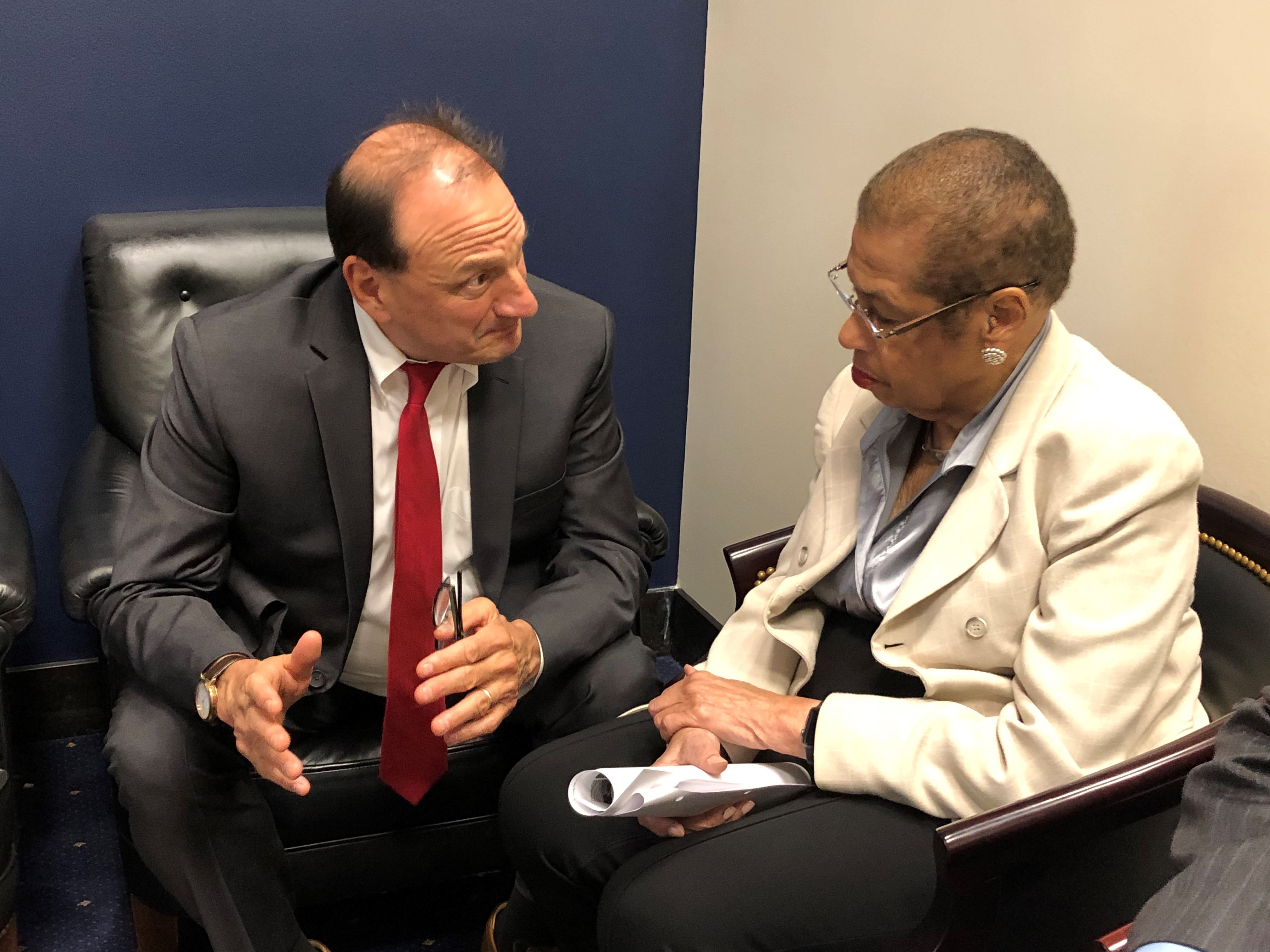 President Arrighi with Rep. Eleanor Holmes Norton